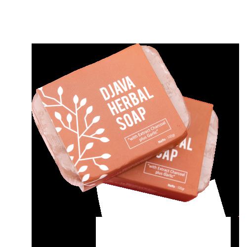DJAVA Herbal Soap Charcoal Plus Garlic